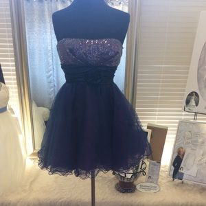 Dresses & Skirts - Blue and Purple Cocktail Dress with Sequin top